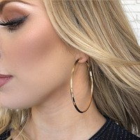 Solid Gold Hoop Earrings