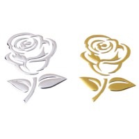 Rose Pattern 3D Stereo Car Decals Stickers