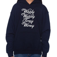 "Doctor Who ""Wibbly Wobbly"" Hoodie (SM-XL)"