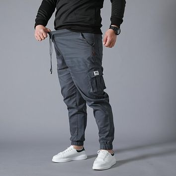 Wear-resistant Multi-pocket Cargo Pants Trousers Plus Size work overalls Jogger Super Loose Men Cotton Casual Pants