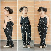 Summer Style Cute Kids Girls Toddler Clothes Cool Vest Top Pants Jumpsuit Outfit Set