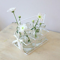 Set Of Six Milk Bottles In A Crate