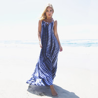 Crashing Waves Tie Dye Maxi Dress