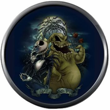 Nightmare Before Christmas Jack Skellington And Oogie Boogie Man 18MM - 20MM Charm for Snap Jewelry