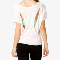 Ditsy Triangle Cutout Tee