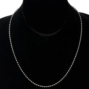 18 Stainless Steel Ball Chain Necklace