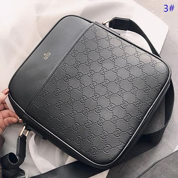 GUCCI & Fendi & COACH New fashion pattern more letter print leather couple shoulder bag crossbody bag briefcase bag 3#