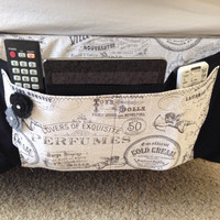 Black and white Bed caddy, Bed organizer, bedside caddy, bedside organizer caddy, Dorm organizer