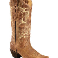 Corral Burnished Embroidered Cowgirl Boots - Snip Toe - Sheplers