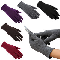 Touch Screen Gloves 5 Colors Fashion Women Outdoor Winter Warm Gloves Touch Screen Sport Ski Gloves Mittens winter gloves