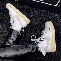 Nike Air Force 1 Low Air Force Classic High Upper Board Sports Shoes