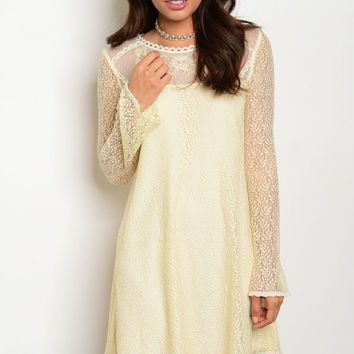 * CREAM LACE DRESS