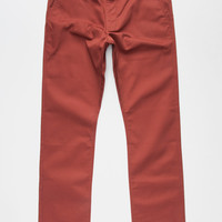 Rvca Week-End Mens Chino Pants Merlot  In Sizes