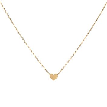 Hollow Heart Necklace 14K