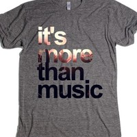 """It's More Than Music"" T-Shirt-Unisex Athletic Grey T-Shirt"