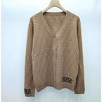 FENDI Women Hollow Knitwear Coat-1