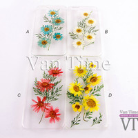 Pressed Flower case, Daisy sunflower, iPhone 5 case, iPhone 4 case, iPhone 4s case, iPhone 5s case iPhone 5c case Galaxy S4 S5 Note 3, 078