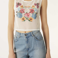 Floral Transfer Crop Top - New In This Week - New In - Topshop