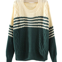 Block Knit Sweater