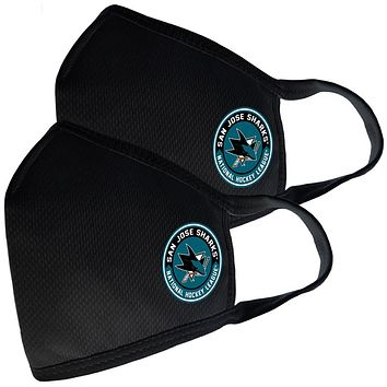 2 Pack Washable Reusable Fabric Face Cover w/Dust Filter Pocket – San Jose Sharks