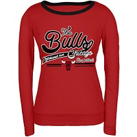 Chicago Bulls - Free Throw Juniors Long Sleeve T-Shirt