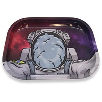 Designed Metal Rolling Tray (Mini) - Smokey Astronaut