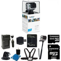 GoPro Hero3 White Edition Camcorder Camera + Battery + Chest Strap +32GB Top Kit