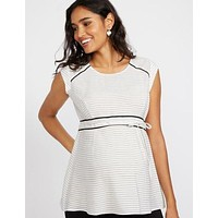 Peplum Maternity Top.