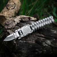 EDC Outdoor Survival Paracord Multitool Defensive Baton Camp Equipment Bracelet With Folding Knife self-defense survival tool