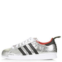 Premium Superstar '80s Trainers by Topshop for adidas Originals - Silv
