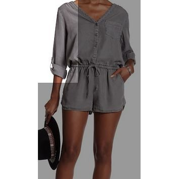 On The Road Montego Romper|Spruce