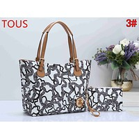 TOUS Newest Trending Women Leather Handbag Shoulder Bag Set Two Piece 3#