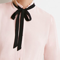 Tied-Bow Blouse