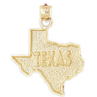 14K GOLD STATE MAP CHARM - TEXAS #5115
