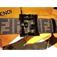 Fendi simple fashion men and women smooth buckle belt