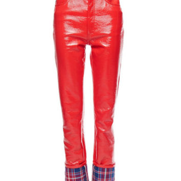 Highrise Stovepipe Pleather Pants - Marc Jacobs