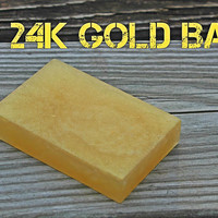 24k Gold Bar Soap - Gold Soap - Handcrafted Soap - Aloe Vera Soap - Gold Collector Gift - Gold Decorations - 50th Anniversary Favors - Party