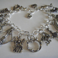 MERLIN bbc tv Series King Arthur Camelot Traditional Charm Bracelet Hand Made in the UK