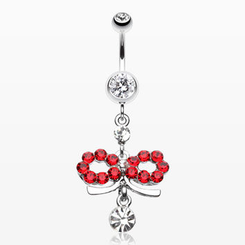 Infinity Dazzle Belly Button Ring