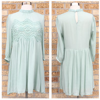 A Lucy Lace Dress in Sage