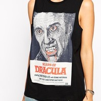 ASOS Vest Top with Halloween Dracula Print