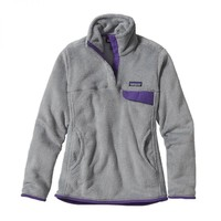 Patagonia Women's Re-Tool Snap-T Fleece Pullover (Tailored Grey/Nickel X-Dye/Concord Purple)