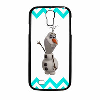 Olaf Disney Frozen Blue Chevron Samsung Galaxy S4 Case