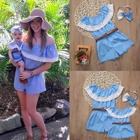 Mother and Daughter Matching Romper