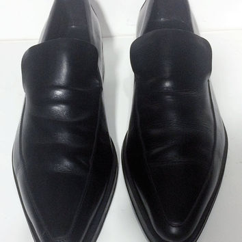 GUCCI Black Leather Loafers Men's Dress Shoes Size 8