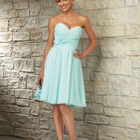 Sweetheart Chiffon Morilee Bridesmaid Dress with Flower Detail | Style 31053 | Morilee