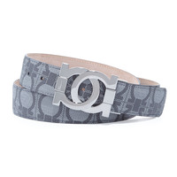 Linking Gancini Buckle Logo-Print Belt,