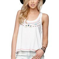 LA Hearts Embroidered Swing Tank - Womens Shirts -
