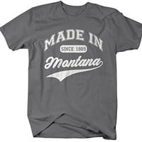 Shirts By Sarah Men's Made In Montana T-Shirt Since 1889 State Pride Shirts