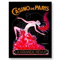 Casino de Paris ~ Vintage French Cabaret Ad Post Cards